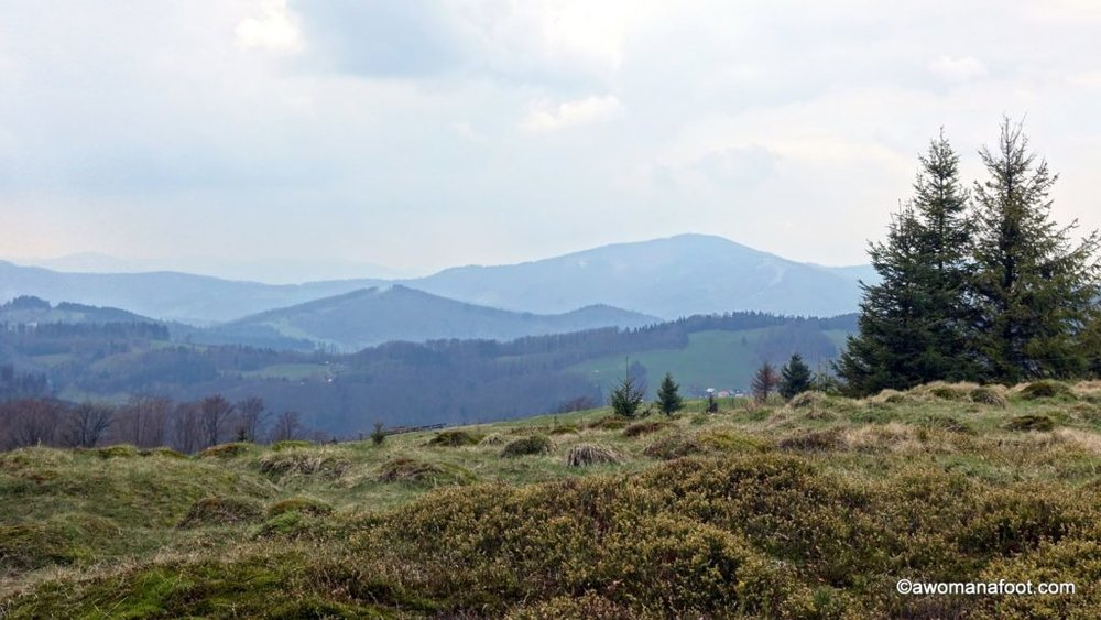 Beautiful mountains, great web of trails, budget accomodation, and breath-taking views - go hiking near Wisła, Poland! awomanafoot.com Learn all about hiking in the Beskid Mountains for a hiking trip to remember! | Best hiking destinations in Europe | Off-beat destinations in Europe | Hiking in Eastern Europe | What to do in Poland | Where to go hiking in Europe | #Poland #Hiking #Wisla #Beskid #Mountains #Trails #Europe #Budget #dayhike