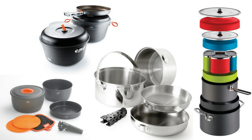 Aluminum or Steel? Or maybe titanium? A whole set or individual pots? Learn all you need about the various camping cookware to choose what you need! awomanafoot.com camping   hiking   camp kitchen   camping dishes  
