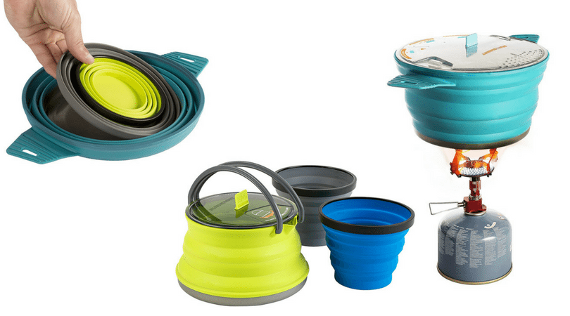 Aluminum or Steel? Or maybe titanium? A whole set or individual pots? Learn all you need about the various camping cookware to choose what you need! awomanafoot.com camping | hiking | camp kitchen | camping dishes | backpacking |