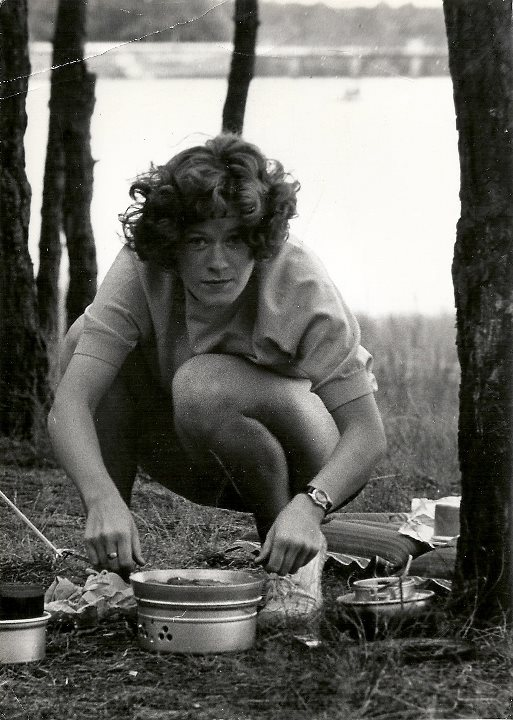 My Mom, during one of her many hiking and camping trips.
