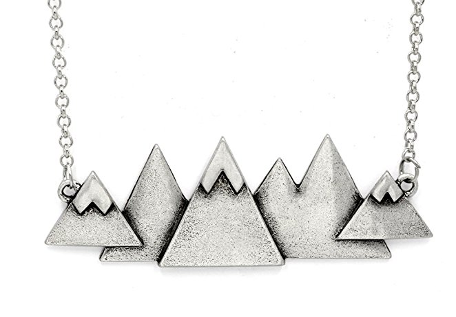 Mountain-Themed Necklace - We love to show our love for mountains and wild nature. Why not give this lovely pendant to your hiking friend?