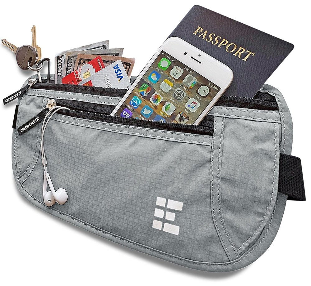 Zero Grid Money Belt w. RFID - For when we want to be a bit more subtle with where we hid our money. This flat money belt is perfect for travel and it has additional protections to make sure your credit cards are safe.