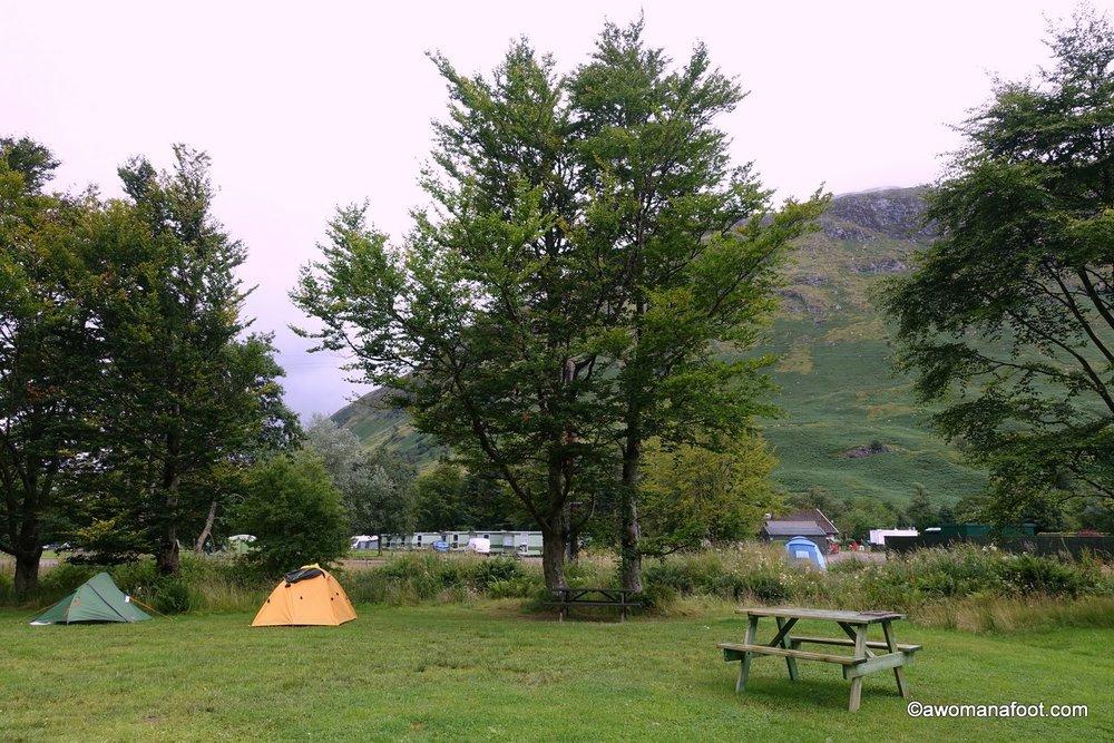 solo hiking fort william campsite