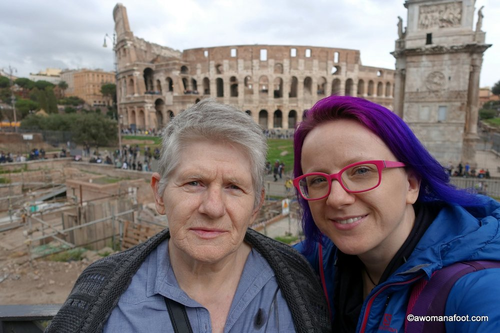 Traveling with my Mom in Rome :)_