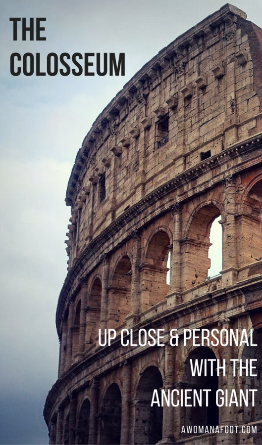 Colosseum: the symbol of Ancient Rome. What is it like to finally see with your own eyes? Read to find out.   #Rome   #Italy   #Colosseum   #History Must-see in Rome   What to do in Rome   Ancient Architecture   Europe   travel  Awomanafoot.com