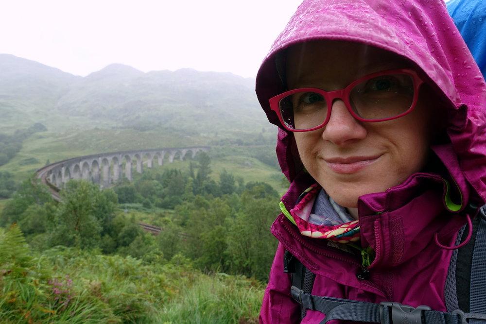 Marmot PreCip rain jacket - during a hike in  Glenfinnan, Scotland.
