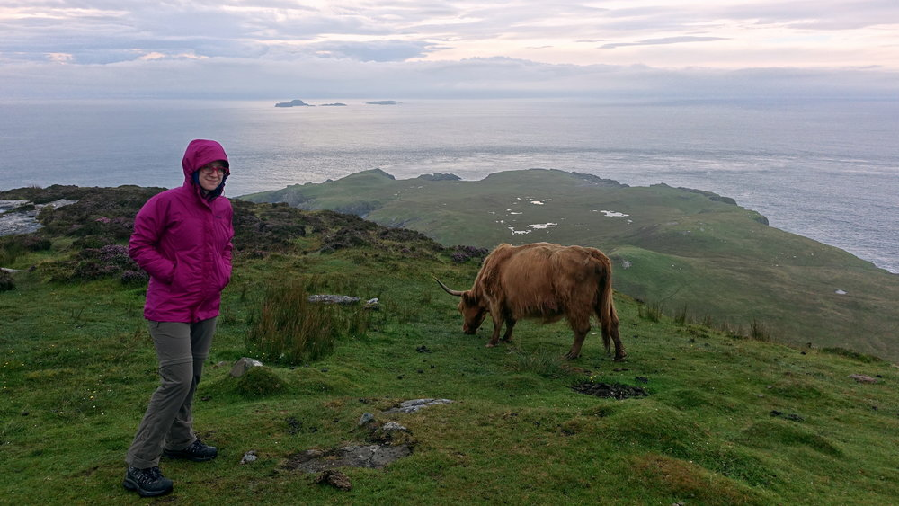 Marmot PreCip rain jacket - during a hike along the Skye Trail, Scotland.