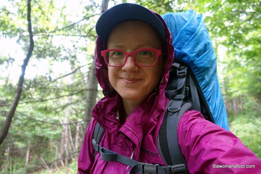 Marmot PreCip rain jacket - during a hike  in Quebec, Canada.