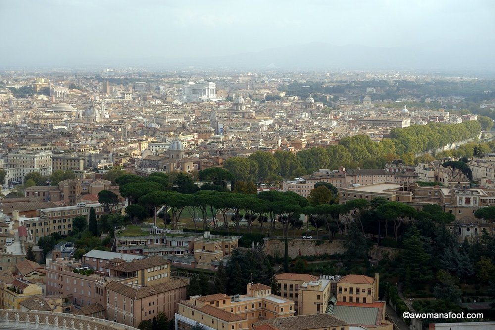 Rome from above italy vatican