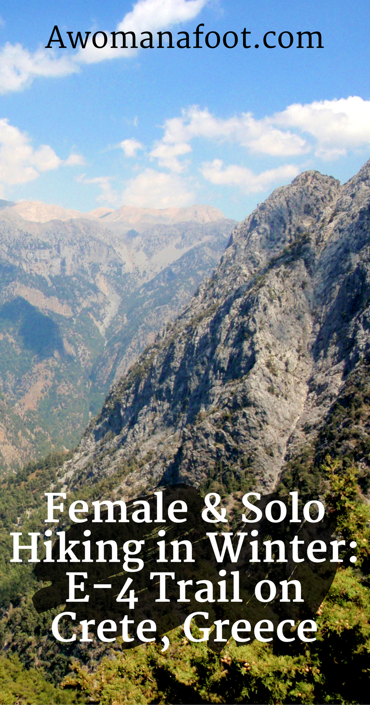 Planning and setting goals for my three-week long solo hiking trip to Crete, Greece. Hiking along the Cretan part of the European Long Distance Path - E-4. #Hiking #Solo #Camping #Crete | Awomanafoot.com