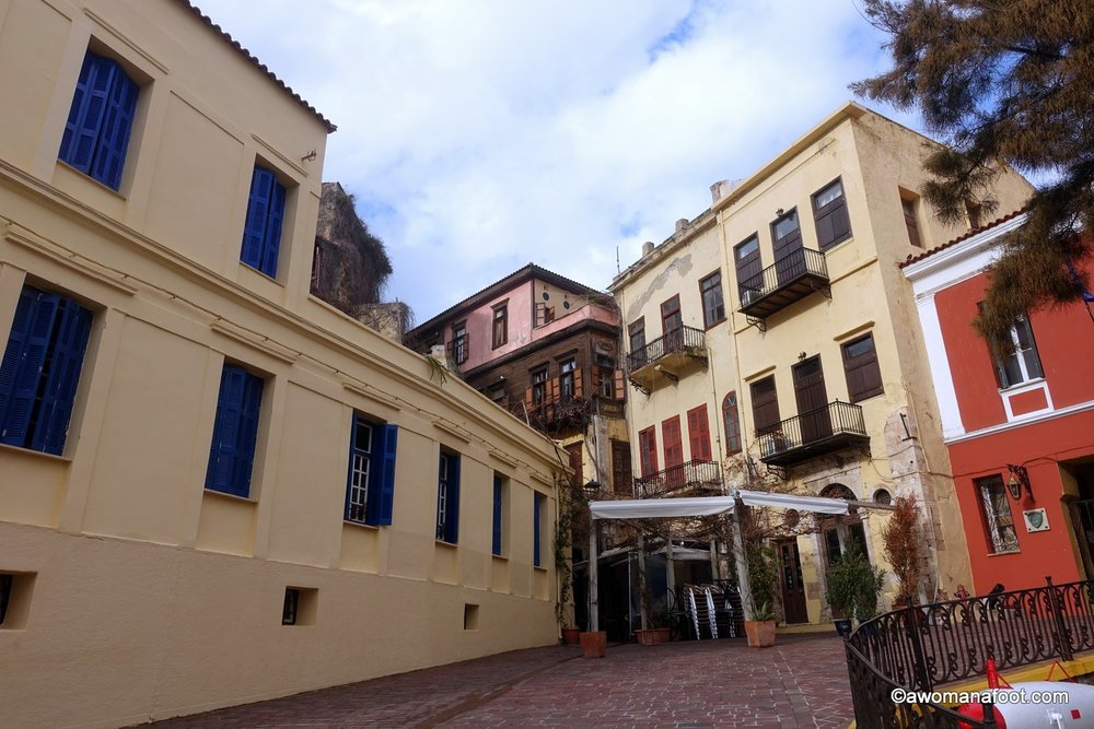 Crete Chania Greece female solo travel winter