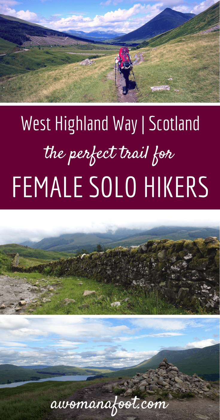 West Highland Way in Scotland: the perfect trail for female (solo) hikers. Read all the reasons why you should book your plane ticket to Glasgow! awomanafoot.com solo hiking | #WHW | #Scotland | wild camping | trekking | trails for beginners | #solo #WestHighlandWay