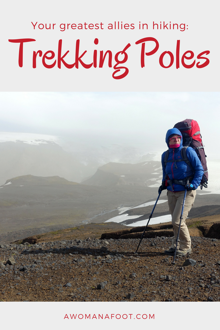 All the WHYs and HOWs of TREKKING POLES: benefits, best uses, adjustments, downsides, and tips to make you into a hiking goddess :) awomanafoot.com | #hiking #gear #HikingTips #Hiking101 #TrekkingPoles #Backpacking #HikingGear | Best hiking tips | How to get better at hiking |