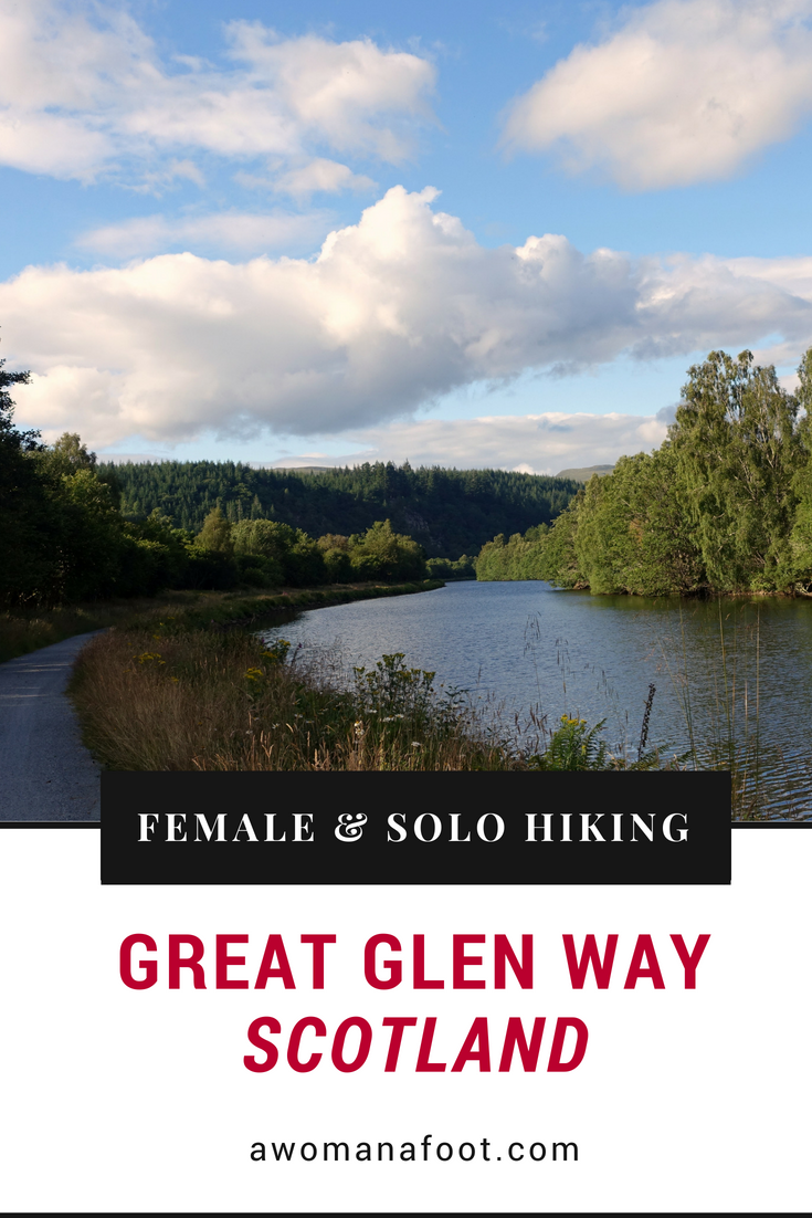 Find out more about the Great Glen Way: a beautiful, budget-friendly trail across Scotland - perfect for solo hikers! awomanafoot.com | Hiking trails in Scotland | Best hiking destinations |Hiking solo | Trails for female solo hikers | Visiting Scotland on a budget | Trail description | UK | Britain | #Scotland #GreatGlenWay #Solo #Trail #Hiking #Camping