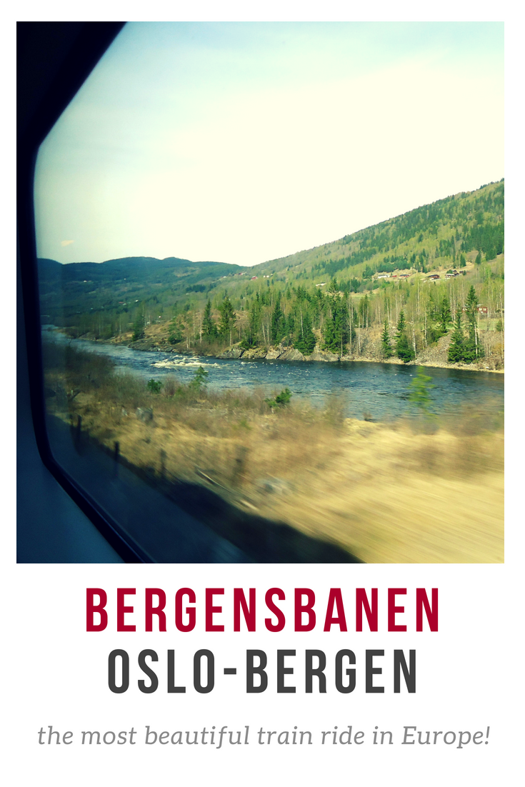 The most beautiful train ride in Europe: Oslo - Bergen in Norway. Get on board and take a scenic route through Norway's fjords, rivers, mountains and national parks! Make sure you get the window seat! awomanafoot.com | What to do in Norway | Best train rides in Europe | Scenic routes | Norway travel | Transportation in Norway | #Bergensbanen #Oslo #Norway #Bergen #trainride #travel #fjords #Scandinavia