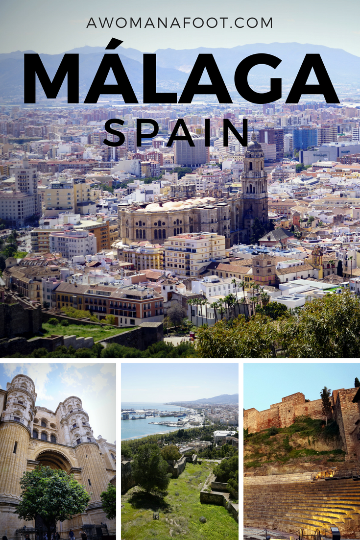 Málaga: find out why this city of ancient history, beautiful gardens, and charming winding streets is a must on your Spanish itinerary! awomanafoot.com | Visit Spain | What to see in Spain | What to do in Malaga | travel destinations in Western Europe | Port cities | Malaga City guide | Best European Cities to visit | European Travel | #Malaga #Spain #Europe #CityTravel #Travel #CityGuide #VisitMalaga