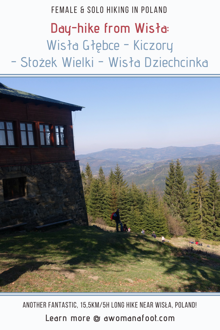 Check out one of the best day hikes Silesian Beskids have to offer - great views, challenging trails and cheap accommodation - don't miss it! Day Hike No.3: Wisła Głębce - Stożek Wielki - Wisła Dziechcinka. Learn more about hiking in Poland @ Awomanafoot.com | women hikers | Beskid | Poland | hiking #trails | #Wisła | Carpathians | #Hiking in #Poland | #solo | Hiking trails in Europe | Europe off the beaten path | Active vacation destinations|