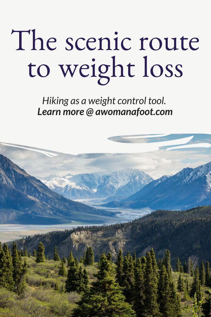 Hiking is wonderful in itself but it also brings a lot of health benefits - among them, a healthy way to keep your weight in control. Learn all about using hiking as a weight loss tool - the healthy and scenic way @ awomanafoot.com! #Health | #WeightLoss | #Fitness | #Hiking | How to Lose Weight Safely | Body positive weight control | #LoseWeight Safely | Health benefits of Hiking | Full-body workout through hiking |