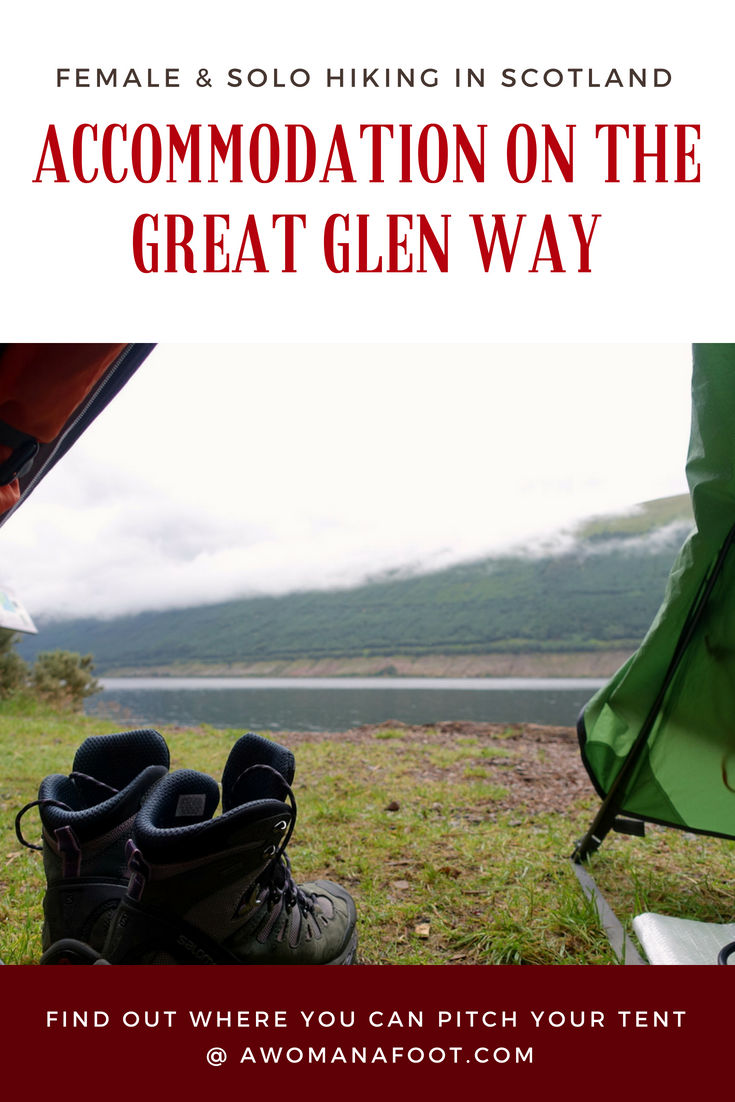 Hiking in Scotland: Budget-friendly camping accommodation along the Great Glen Way trail. Find out where you can pitch your tent along the Great Glen Way @ AWOMANAFOOT.COM! | #hiking  #camping #Scotland #GreatGlenWay #WildCamping #Accommodation #campsites in Scotland | Scottish campsites | Where can I camp in Scotland |