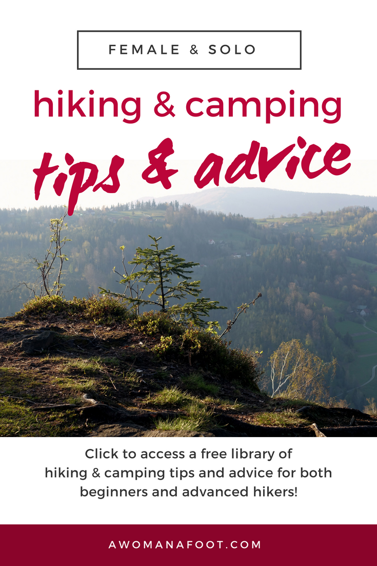 Click to access a free library of hiking & camping articles with awesome tips, advice, and inspiration @AWOMANAFOOT.COM. Learn new skills, avoid injuries and be inspired to hit the trails! Hiking & camping advice for both beginner and advanced hikers and campers. Female & solo hiking & trekking | #Hiking #Camping #Solo #Female #Backpacking #Advice #Resources
