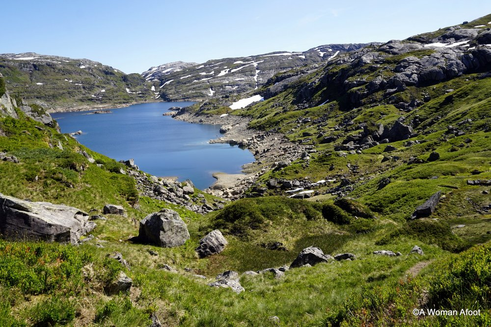 Another fantastic destination in Norway for solo hikers and all adventure types! Click to see how beautiful the trail from Høgabu to Vending near Bergen is @awomanafoot.com | Hiking trails in Europe | Hiking in Norway | Adventure in Scandinavia | Female solo hikers | Wild camping in Norway | Hiking trails near Bergen | #hiking #camping #Bergen #Norway #solo #wildcamping #trails #adventure