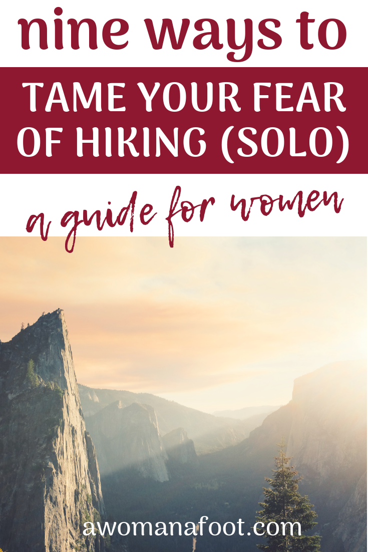 Are you scared to go hiking? Do you fear going solo into the mountains? Let's tame the big scary beast together and identify the real risks and dangers of hiking & learn how to deal with them @ AWOMANAFOOT.COM! Hiking and camping advice | Hiking tips and hacks | Advice for women hiking alone | Female solo hikers | How to hike solo |Safety Tips for Female hikers | #hiking #camping #safety #hikingsolo #FemaleHikers #Anxiety #Fear #Outdoor #Adventure #SafetyTips