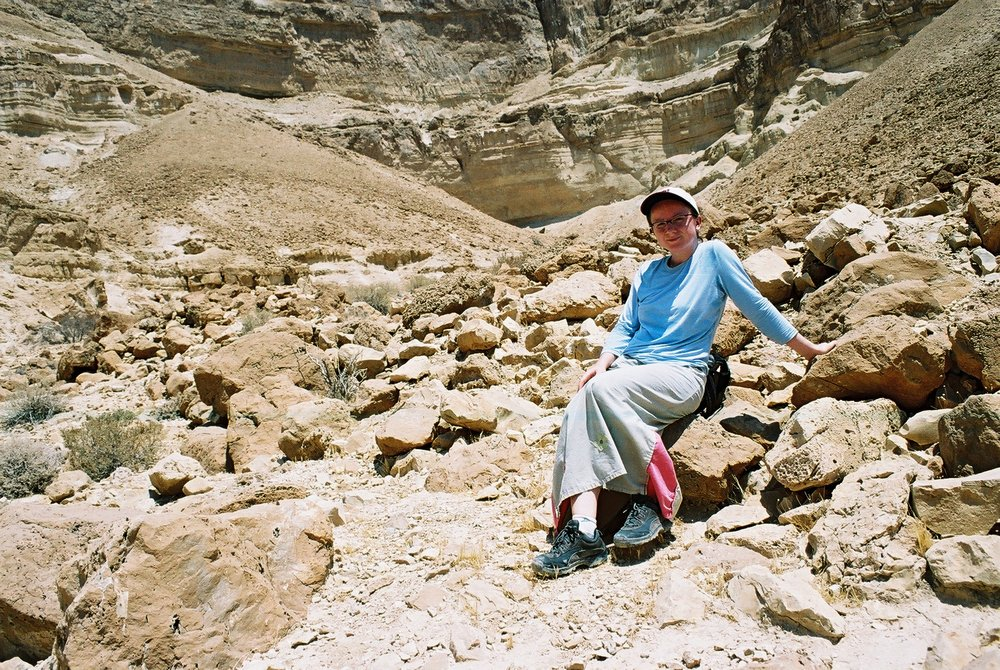 When I was in Israel I went once for a solo hike in Ein Gedi - a fantastic place but I've learned the hard way hiking on a desert in August might not be the best idea. Oh, and I was hiking in a skirt - I was pretty religious back then.