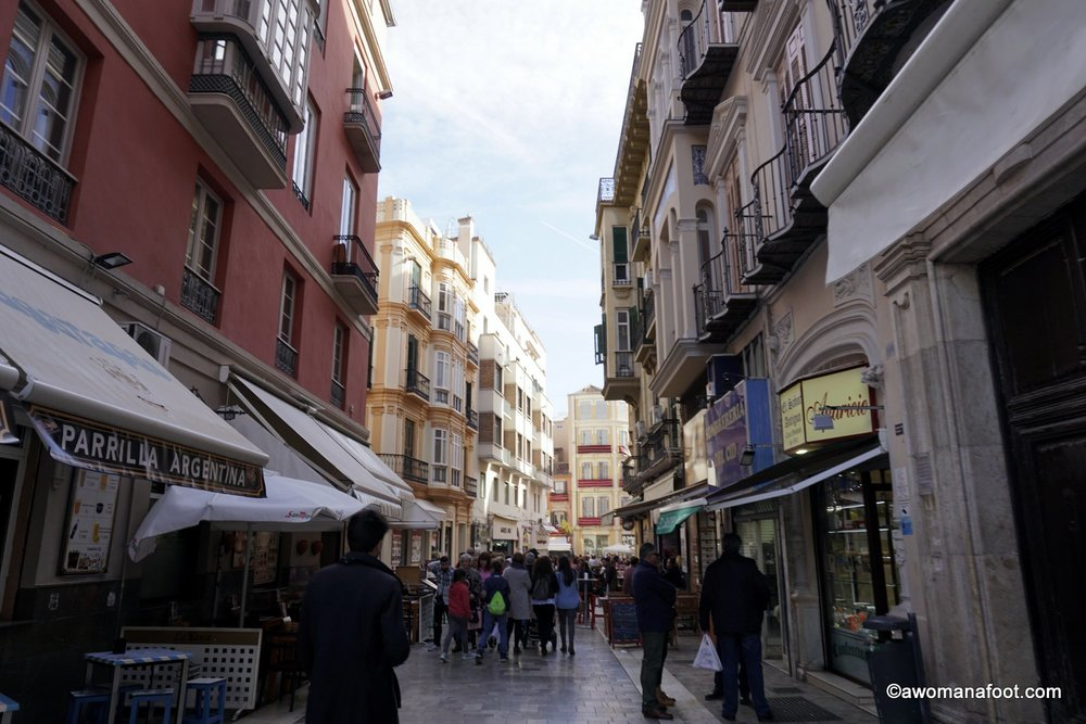 streets Malaga old town visit spain