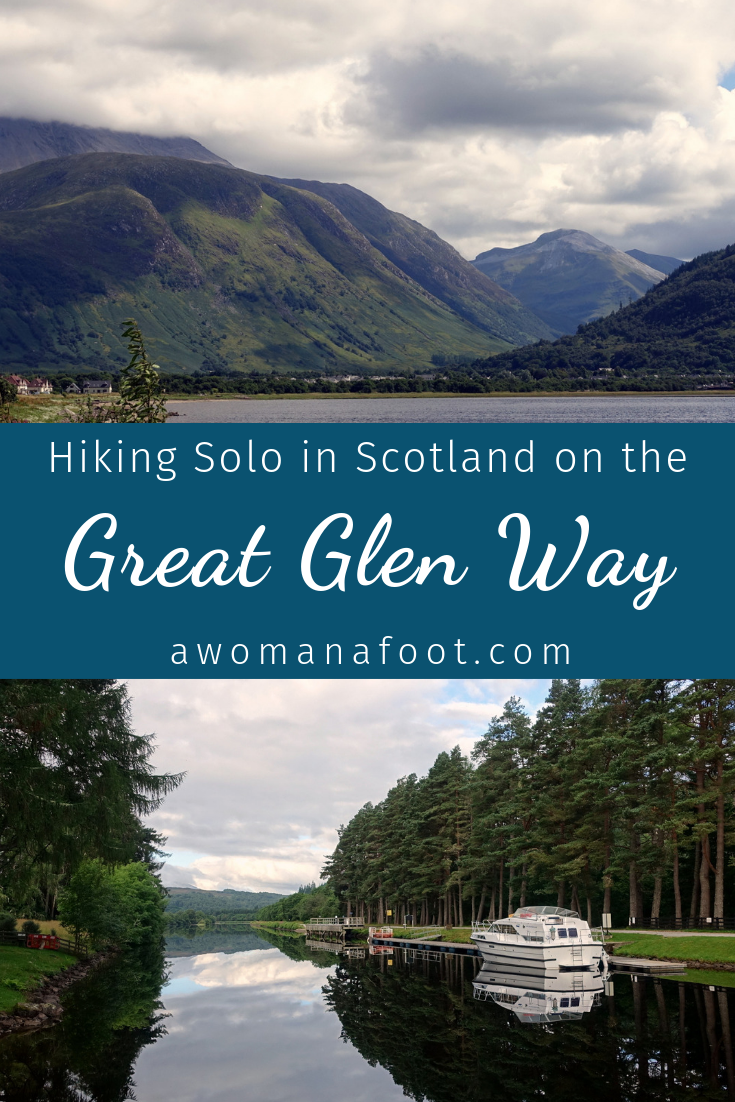 Learn about the Great Glen Way: a beautiful, budget-friendly trail across Scotland - perfect for solo hikers! awomanafoot.com | Hiking trails in Scotland | Best hiking destinations | Hiking solo | Trails for female solo hikers | Visiting Scotland on a budget | Trail description | UK | Britain | #Scotland #GreatGlenWay #Solo #Trail #Hiking #Camping