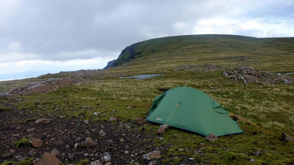 camping isle of skye trotternish ridge hikers accommodation