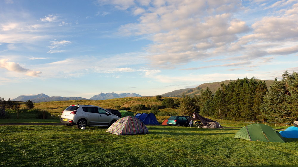 camping isle of skye portree campsite hikers accommodation