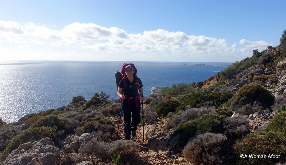 Winter hiking on Crete