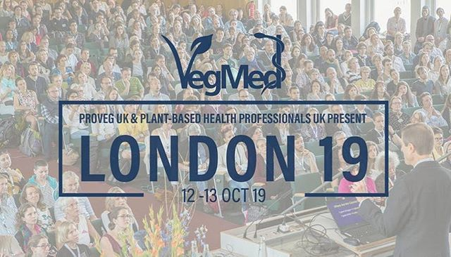 VegMed is coming to London! I'm delighted to be one of the confirmed speakers at the UK's first international medical conference focused on plant-based nutrition! . Organised by @proveg.uk in conjunction with @plantbasedhealthprofessionals , this major medical meeting will bring together global powerhouses, including Dr Michael Greger and Dr Michael Klaper, with plant-based health professionals and advocates from across the UK, Europe and the world . VegMed London 2019 will sell out. Tickets for the Scientific Conference (Saturday October 12th) and the Public Day (Sunday October 13th) are already on sale at www.vegmed.de .  @proveg.uk @plantbasedhealthprofessionals @plantbasednews @plantpowerdoctor . #plantbased #gastroenterology #guthealth #london #londonvegan #veganlondon #veganuk