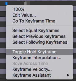 Toggle Hole Keyframe in After Effects