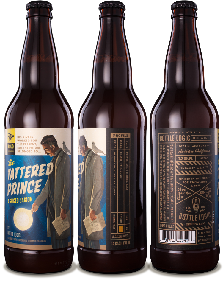 Label design for Bottle Logic's line of cold classics