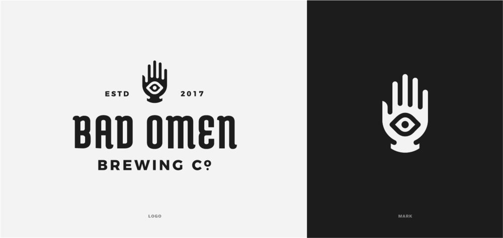Branding for the Bad Omen brewing company