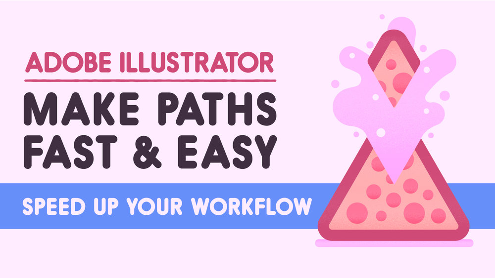 Enjoy a free course! - Want to be more efficient in Adobe Illustrator? Make Paths Fast and Easy will not only make your life easier, but make your work smoother. Sign up for the Happy Faces on Everything newsletter to get this short and sweet course for free.