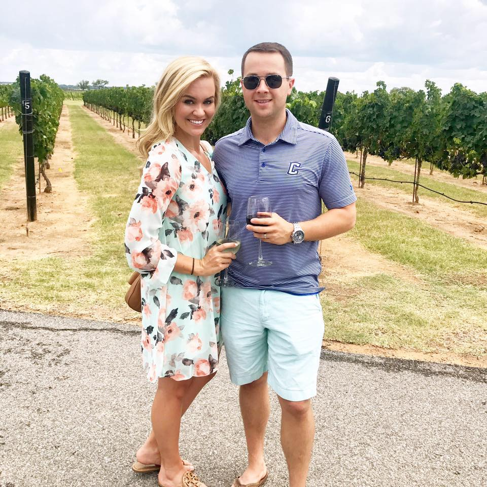 On our one-year anniversary trip to the beautiful hill country of Fredericksburg,Texas!