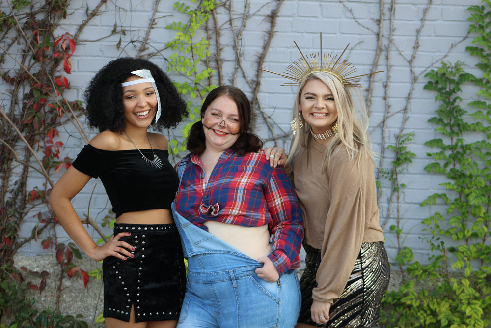 with halloween just around the corner, Check out our three diy halloween costumes - Written by: Abbey BurnsPhotos by: Maddie Walker & Tondaleigha JonesModels: Ashley Cornforth, Emma Crosswhite, and Madison Williams