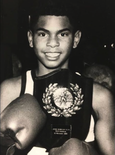A young David Haye at 11 years old after winning by first round knockout