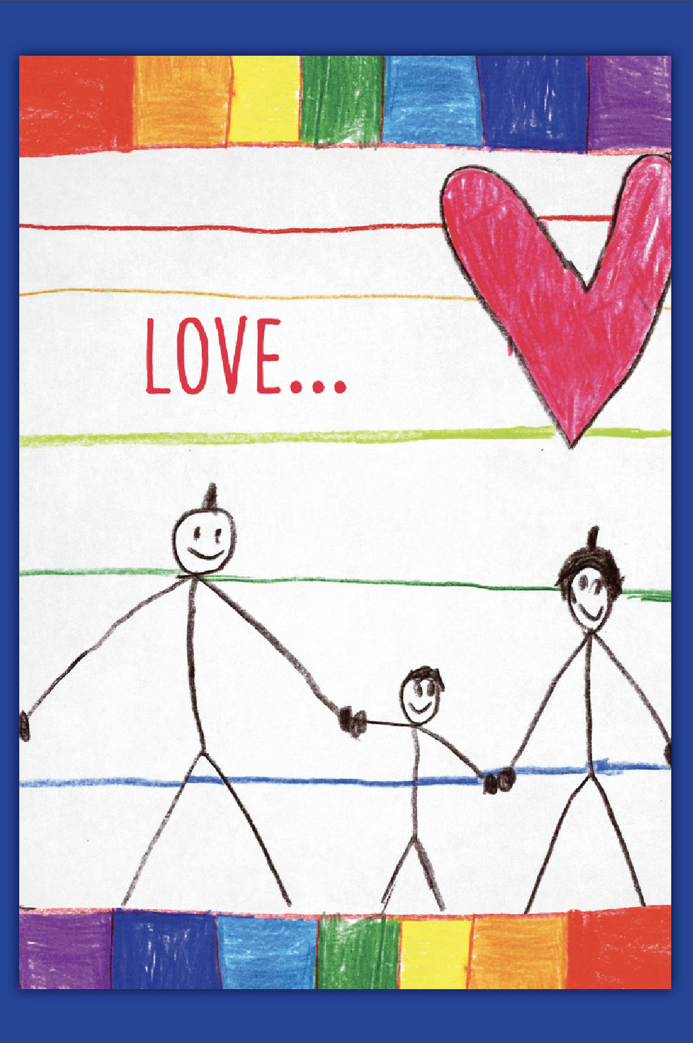 Love Makes A Family Gay Greeting Card Kweer Cards