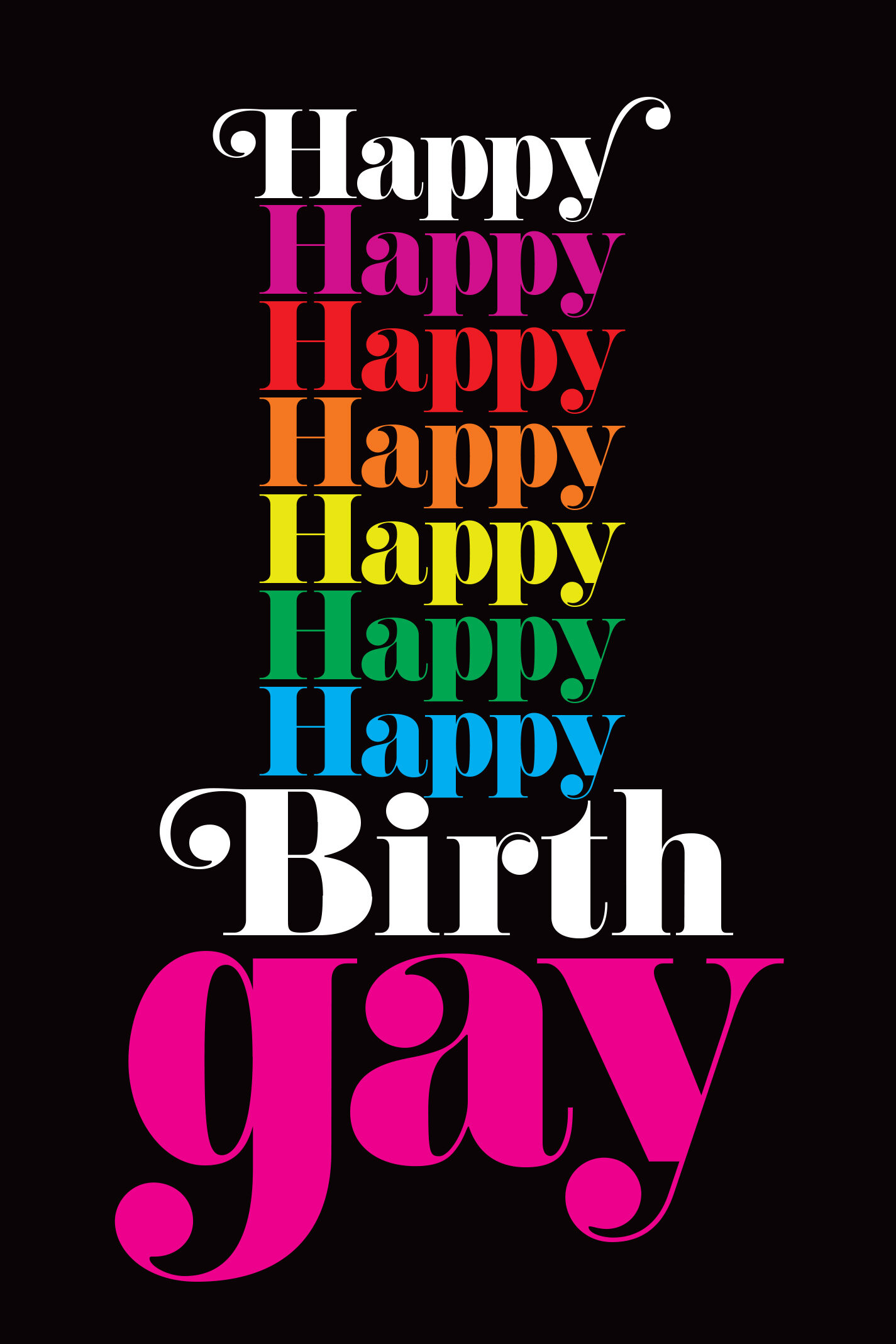 Happy BirthGay Greeting Card — Gay Greeting Cards by Kweer Cards