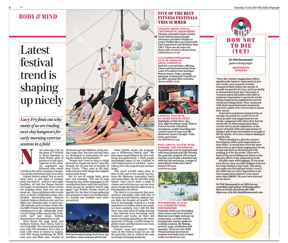 The Daily Telegraph x LoveFit