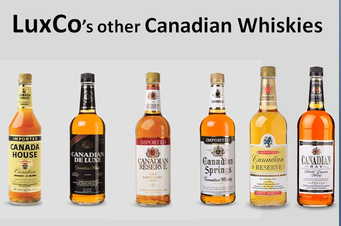 LuxCo's Other Canadian Whiskies