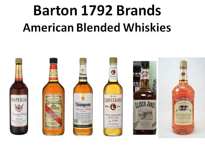 Barton/1792 American Blended Whiskey Brands