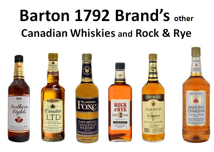 Barton 1782 Brand's & Other Canadian Whiskies