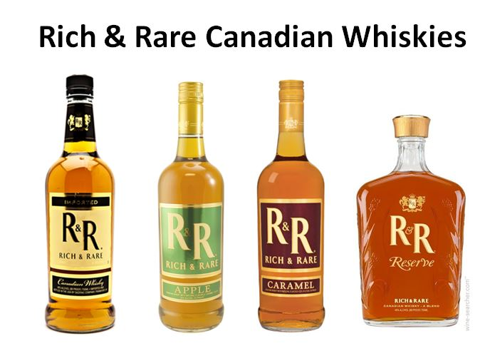 Rich & Rare line of Canadian Whiskies