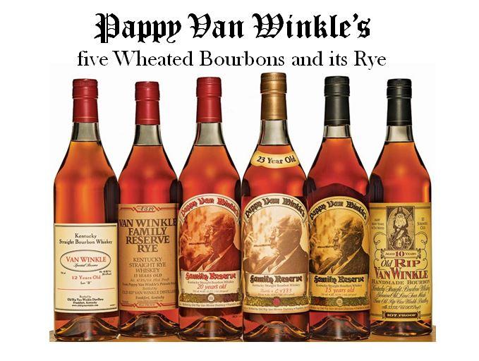 Pappy Van Winkle's six brands