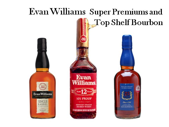 Evan Williams Top Selling Super Premium Brands