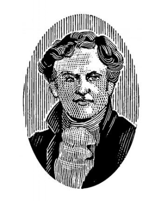 Sketch Photo of Evan Williams, provided by Heaven Hill web site